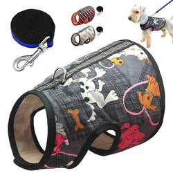 Pet Harnesses Vest & Leash Set, Length 140cm, for Cats & Small and Medium Dogs