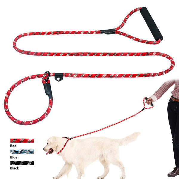 160cm Reflective Dog Leash & Collar with a Soft Handle For Medium & Large Dogs