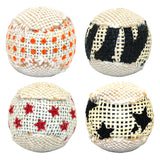 4 Exercise Cat Balls  - For Chewing and Playing, has a Rattling Sound - Excellent Pet Toy
