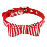 Leather Dog Collar Desined as a Tie for Small Dogs and Cats