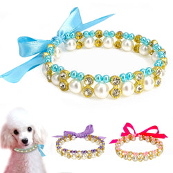 A Classy, Crystal Necklace for Small Dogs & Cats