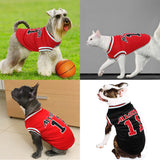 Summer Dog or Cat Clothes, Designed as a Sports Shirt, Suitable for Small & Medium Dogs or Cats