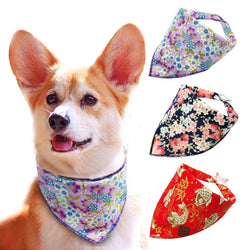 A beautiful Flower Printed Bandanas for Small Dogs & cats