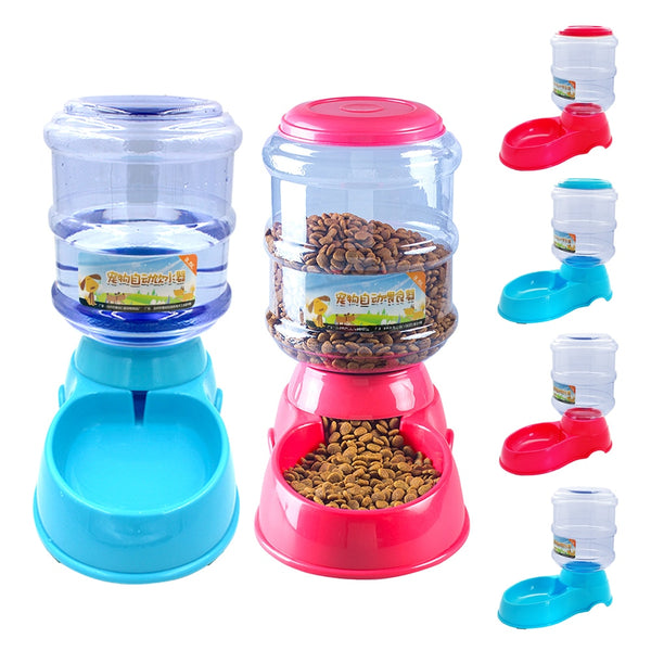 A Special and High-quality Automatic 3.5L Device for Feeding the Pet Food and Drink