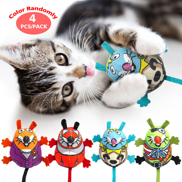 4 pcs Funny Mice with Sounds - Cat Toys