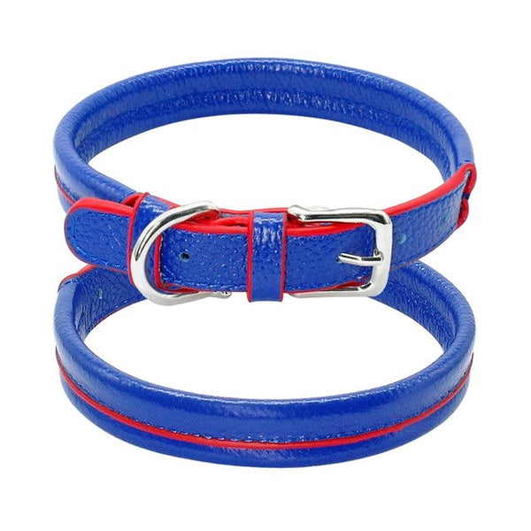 Soft & Padded Leather Dog's Collar for Small and Medium Pets