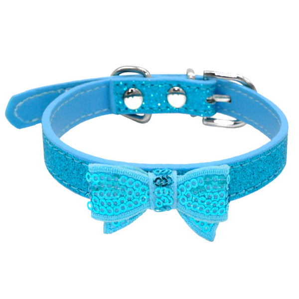 Beautiful Desined Leather Collar for Small Dogs