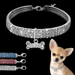 Rhinestone, Dog Necklace For Small & Medium Dogs