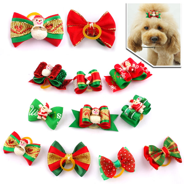20 pcs of Wonderful Dog & Cat Hair Bows for Small Pets