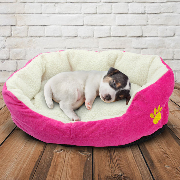 A Well-Padded Pet Bed with a Comfortable and Warm Mattress for Cats & Small dogs