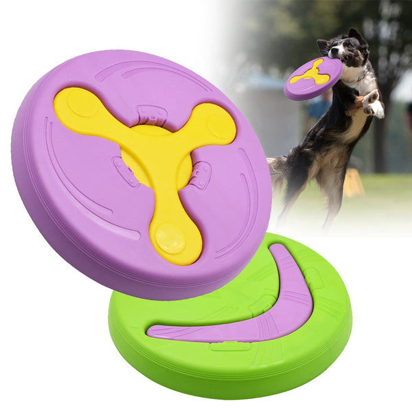 A Flying Disk DogToy - Made of Silicone for Training and Playing