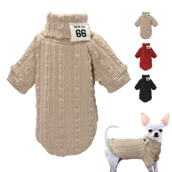 Fashionable, Winter Pet Sweater, High Quality, Warm for Small & Medium Dogs & Cats