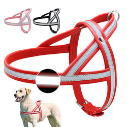 Soft Leather Dog Harness for Medium & Large Dogs