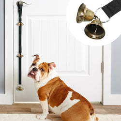 A Dog Doorbell Rope with a Bell for Training, Playing and Communicating with Pets