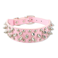 Leather Studded Dog Collar for Small Pets