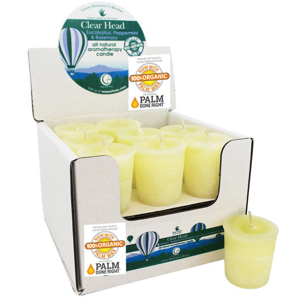 Clear Head - Votive Candle 18 pack