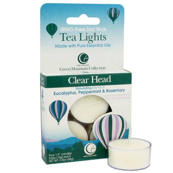 Clear Head - Tealight Candle 4-pack