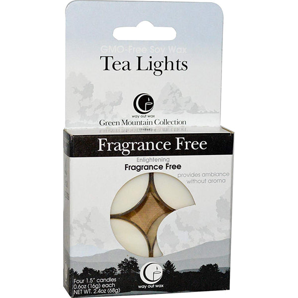 Fragrance Free - Tealight Candle 4-pack