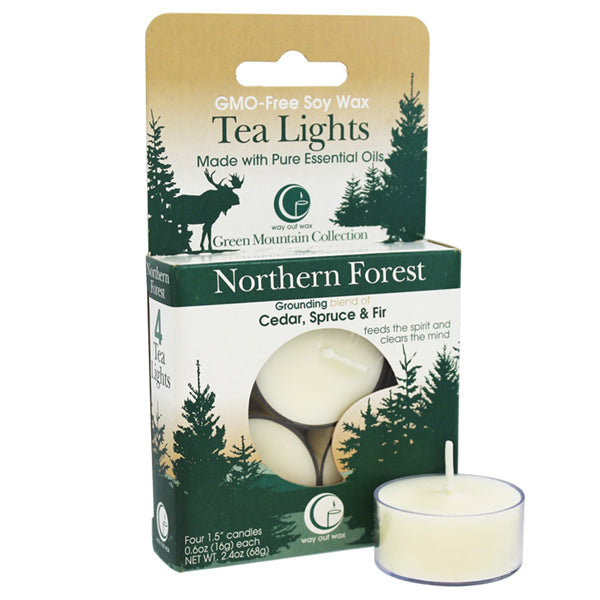Northern Forest  - Tealight Candle 4-pack