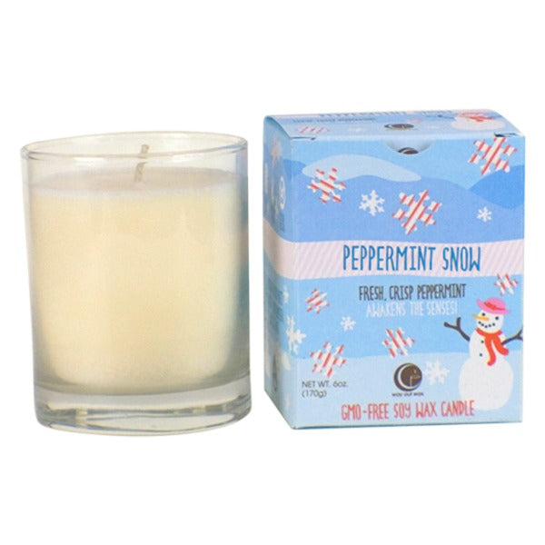 Peppermint Snow - Clear Glass Tumbler