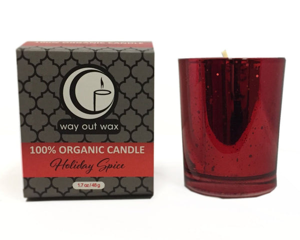 Holiday Spice - Organic Holiday Glass Votive