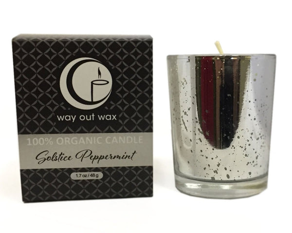 Solstice Peppermint - Organic Holiday Glass Votive