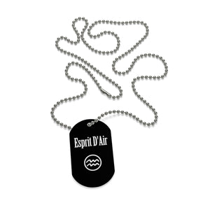 Aquarius Necklace Tag - esprit-dair