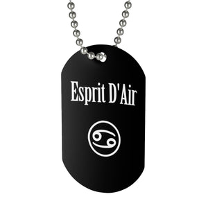 Cancer Necklace Tag - esprit-dair