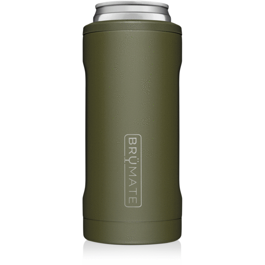 OD Green Brumate Hopsulator Slim 12oz Slim Cans
