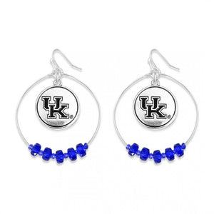 Kentucky Nested Beaded Game Day Drop Earring
