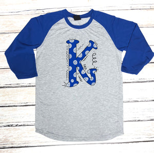 Kentucky K Hand Drawn Spirit Raglan