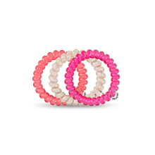 Load image into Gallery viewer, Pink Punch Large 3-Pack Hair Ties
