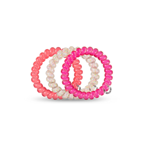 Pink Punch Large 3-Pack Hair Ties