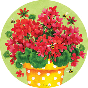 Geranium Gingham-Accent Magnets