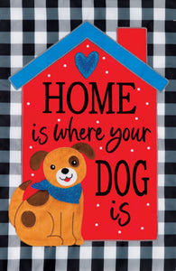 Home Dog Applique Flag-Double Sided Flag