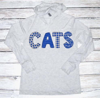 Kentucky CATS Unisex Heather Hooded Long Sleeve Tee