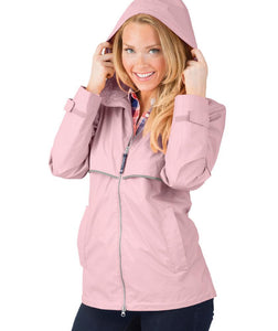Ladies Charles River Rain Jacket-Pink