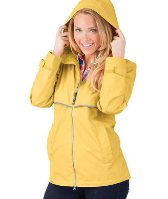 Ladies Charles River Rain Jacket-Buttercup