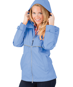 Ladies Charles River Rain Jacket-Periwinkle