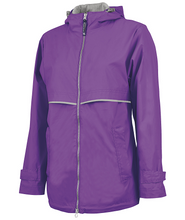 Load image into Gallery viewer, Ladies Charles River Rain Jacket-Violet