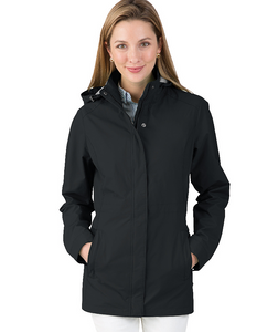 Charles River Ladies Logan Rain Jacket - Black