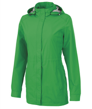 Load image into Gallery viewer, Charles River Ladies Logan Rain Jacket - Green
