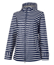 Load image into Gallery viewer, Women's Striped Charles River Rain Jacket
