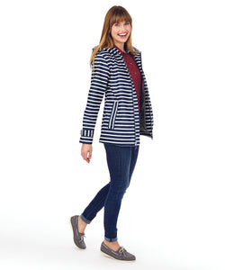 Women's Striped Charles River Rain Jacket