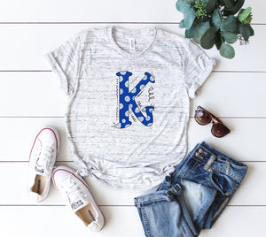 Kentucky K Hand Drawn Unisex Spirit Tee