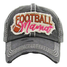 Load image into Gallery viewer, Distressed Football Mama Hat In Several Colors