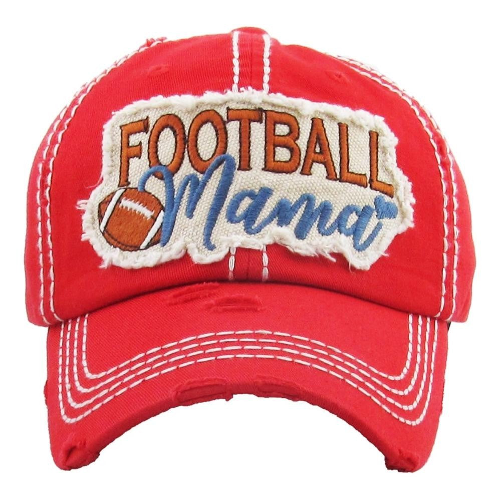 Distressed Football Mama Hat In Several Colors