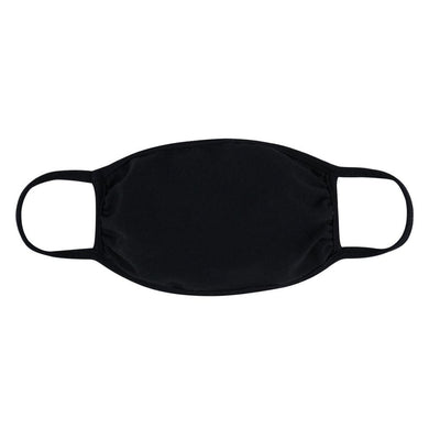 Reusable Adult T-Shirt Cloth Face Mask - Black Solid Color