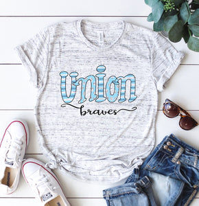 Union County Braves Hand Drawn Unisex Spirit Tee