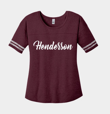 Henderson Colonels Ladies Heathered Cardinal Spirit Tee